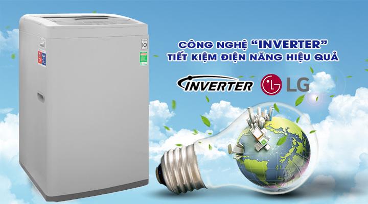 Tiết kiệm điện Máy giặt LG Inverter T2108VSPM2 8 kg