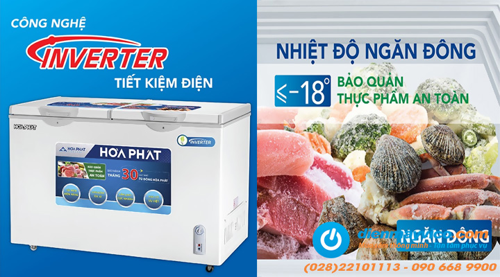 Tiết kiệm điện Tủ đông mát Funiki Hòa Phát HCFI 506S2Đ2 Inverter 205 lít