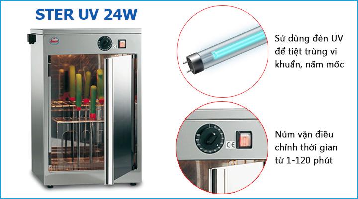 Tính năng tiệt trùng hiện đại của máy tiệt trùng Sirman Ster UV 24W