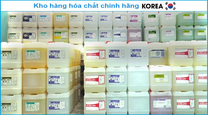 Kho hàng hóa chất Korea chính hãng