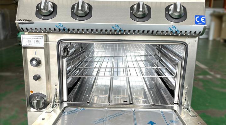 Tổng quan Bếp âu 4 họng có lò nướng Inoksan INO-7KG 23S