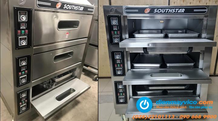 Tổng quan Lò nướng bánh 3 tầng 6 khay Southstar dùng điện