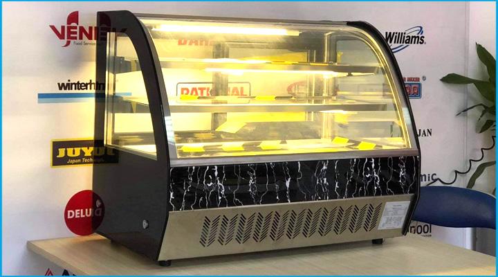 Tủ trưng bày bánh kem mini kính cong Snow Village
