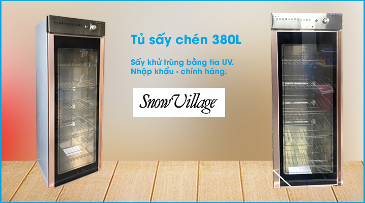 Tủ sấy chén Snow Village 380L 1 cửa
