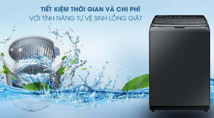 Vệ sinh lồng giặt Máy giặt Samsung Inverter WA22R8870GV/SV 22kg