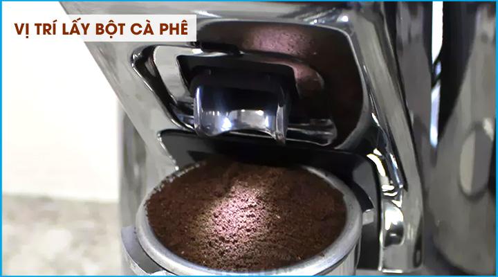 Vị trí lấy bột Máy xay cà phê Eureka Zenith Club 60M