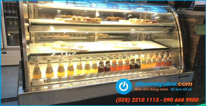 Tủ bánh kem kính cong Berjaya nhập khẩu Malaysia