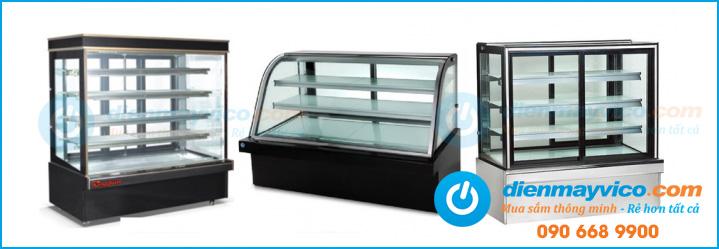 Các mẫu tủ bánh kem Berjaya kính vuông mới nhất năm 2017
