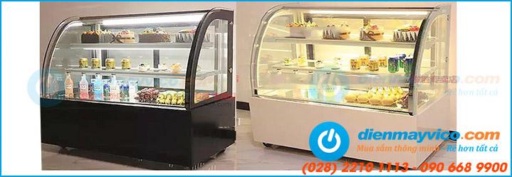 Tổng đại lý phân phối tủ bánh kem kính cong giá tốt