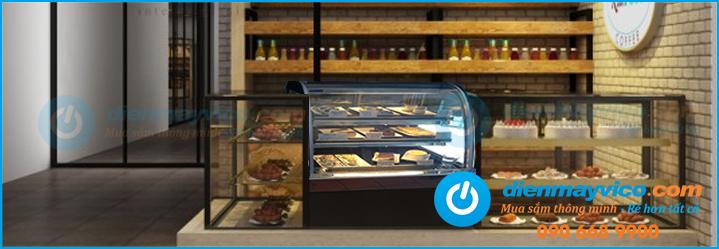 Tủ bánh kem Berjaya 1m kính cong, kính vuông