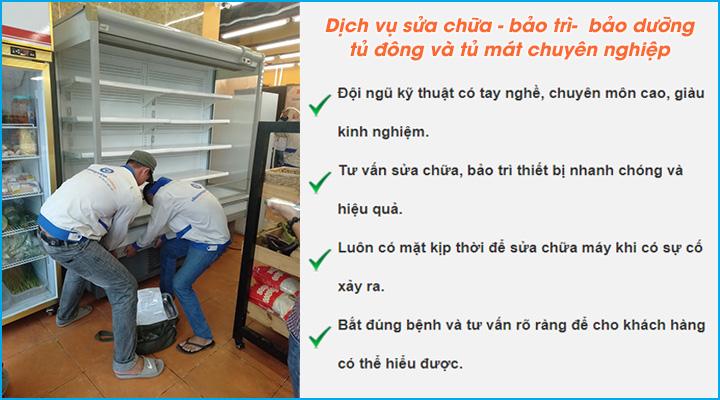 Dịch vụ sửa chữa – bảo trì – bảo dưỡng tủ đông, tủ mát uy tín và chất lượng