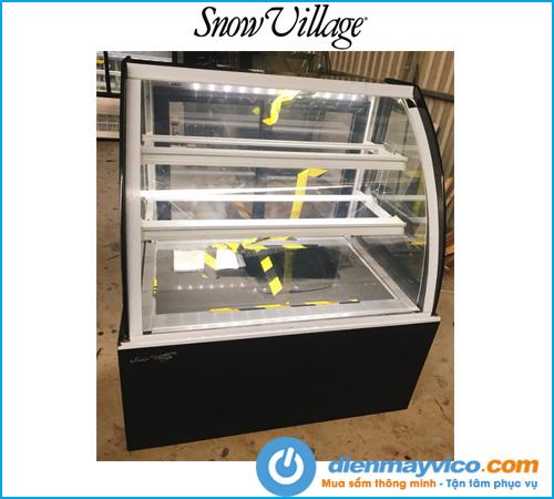 Tủ bánh kem kính cong Snow Village 0.9m