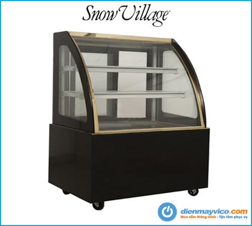 Tủ bánh kem kính cong Snow Village 1m2