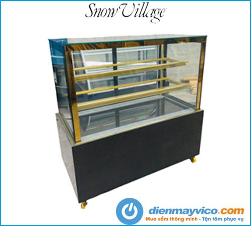 Tủ bánh kem kính vuông Snow Village 1m5