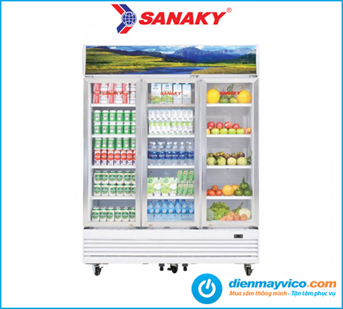 Mua tủ mát 3 cánh kính Sanaky VH-1520HP 1400 Lít chính hãng giá tốt