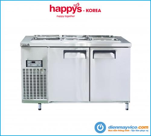Bàn mát salad 1m5 Happys HWA-1500S-F full khay