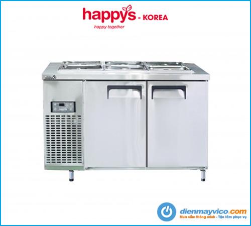 Bàn mát salad 1m2 Happys HWA-1200S-F full khay