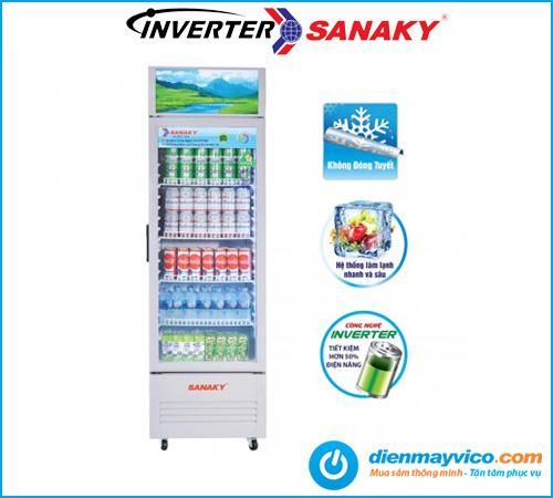 Tủ mát Sanaky VH-408K3L Inverter 340 Lít