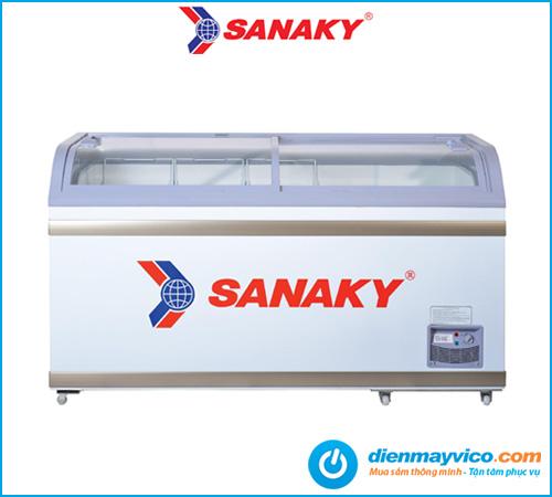 Tủ đông kính cong lùa Sanaky VH-888K 500 Lít