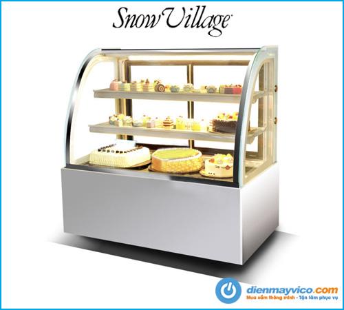 Mua tủ bánh kem kính cong Snow Village 1m5 giá rẻ chính hãng