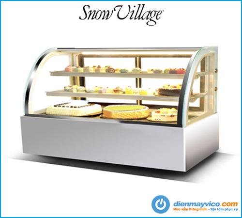 Mua tủ bánh kem kính cong Snow Village 1m8 giá rẻ chính hãng