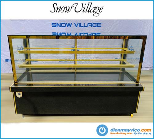 Tủ bánh kem kính vuông Snow Village 1m8