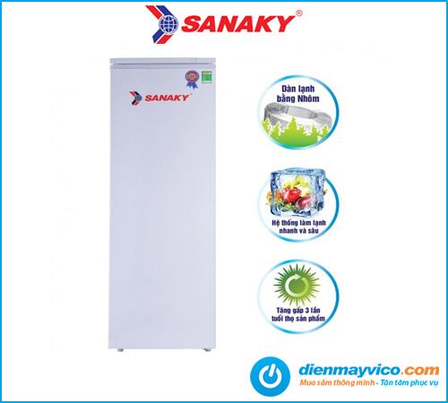 Tủ đông đứng Sanaky VH-230HY 230 Lít