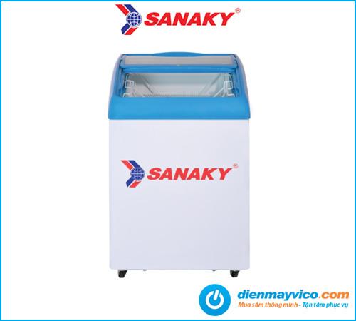 Tủ đông kính cong Sanaky VH-182K 100 Lít