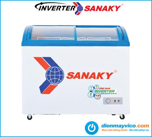 Tủ đông kính cong Sanaky VH-2899K3 Inverter 211 Lít