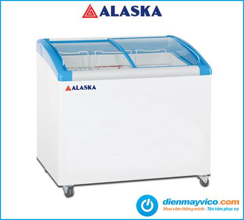 Tủ đông kính cong Alaska SC-500Y 202 Lít