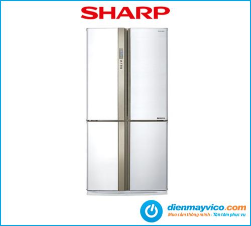 Tủ lạnh Sharp Inverter SJ-FX680V-WH 605 Lít