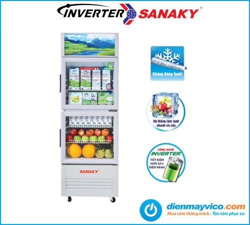 Tủ mát Sanaky VH-308W3L Inverter 240 Lít