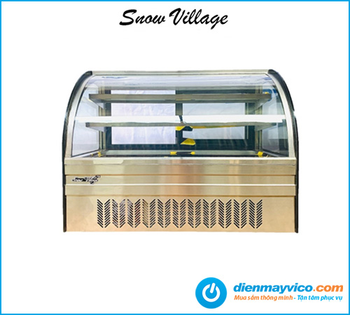 Tủ trưng bày bánh kem để bàn Snow Village 70cm