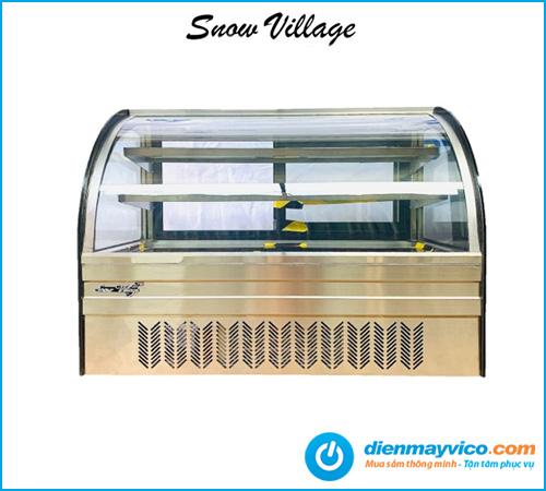Tủ trưng bày bánh kem để bàn Snow Village 90cm