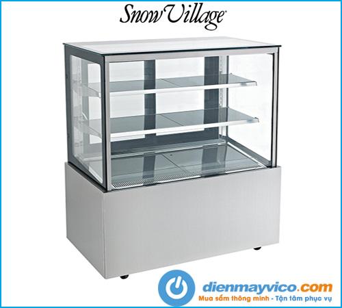 Tủ bánh kem kính vuông Snow Village 1m2