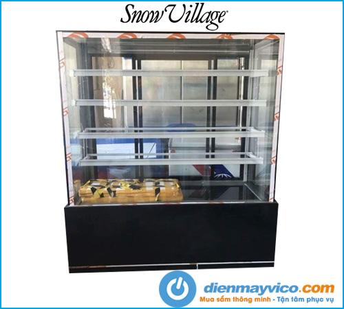 Tủ bánh kem kính vuông 5 tầng Snow Village 1m5