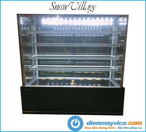 Tủ bánh kem kính vuông 5 tầng Snow Village 1m8