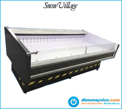 Tủ mát trưng bày thực phẩm màn kéo Snow Village 2m