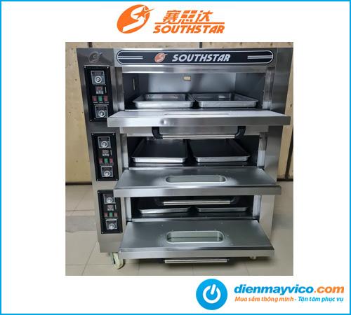 Lò nướng bánh 3 tầng 6 khay Southstar dùng điện