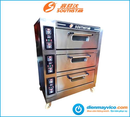 Lò nướng bánh 3 tầng 6 khay Southstar dùng điện | Phân phối giá rẻ