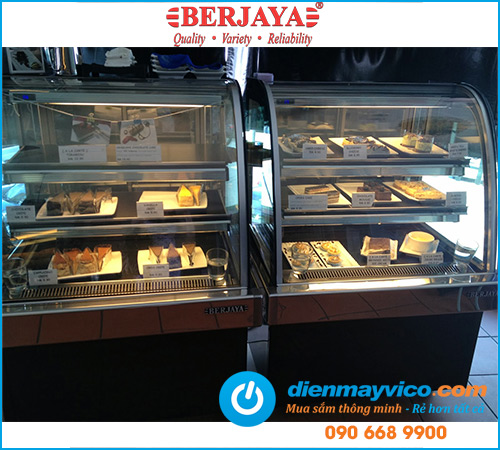 Tủ bánh kem kính cong Berjaya CCS15SB13-2FB 1m5
