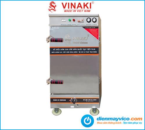 Tủ nấu cơm Vinaki 10 khay điện gas kết hợp