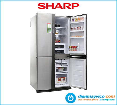 Tủ lạnh Sharp Inverter SJ-FX680V-ST 605 Lít