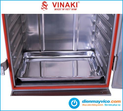 Tủ nấu cơm Vinaki 6 khay điện gas kết hợp