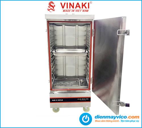 Tủ nấu cơm Vinaki 12 khay điện gas kết hợp