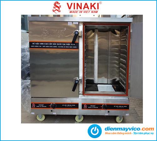 Tủ nấu cơm 24 khay dùng gas Vinaki