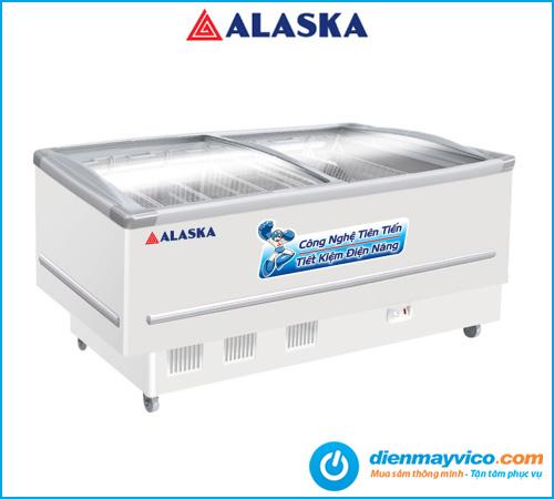 Tủ đông kính lùa cong Alaska SC-7W 532 Lít