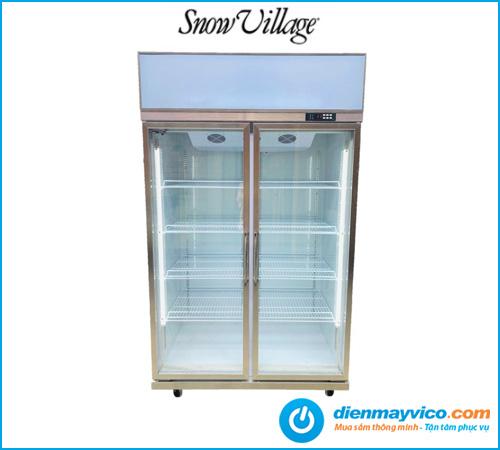 Tủ mát 2 cánh kính Snow Village (quạt lạnh)
