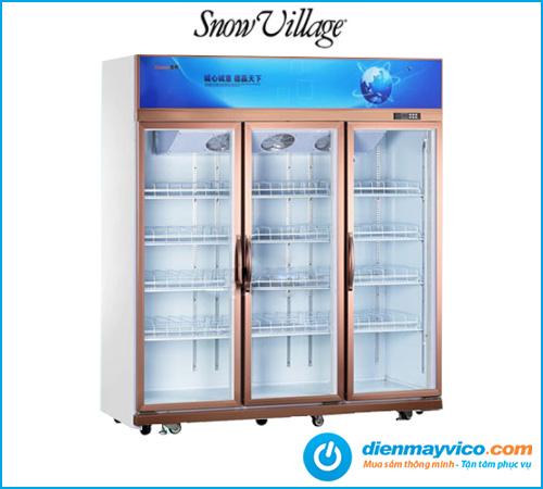Tủ mát 3 cánh kính Snow Village (quạt lạnh)