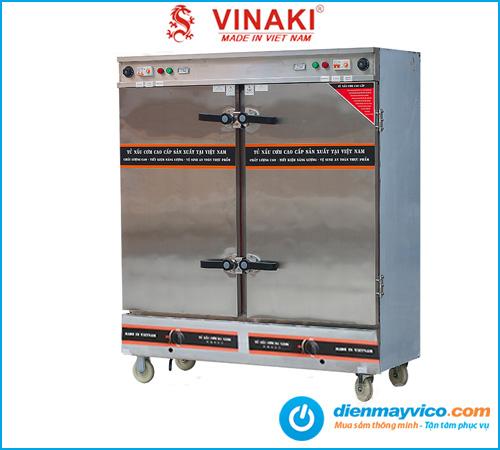 Tủ nấu cơm Vinaki 24 khay dùng điện gas kết hợp